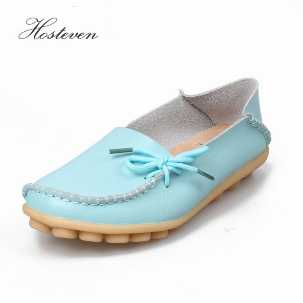 2017 Women Real Leather Shoes Moccasins Mother Loafers Soft Leisure