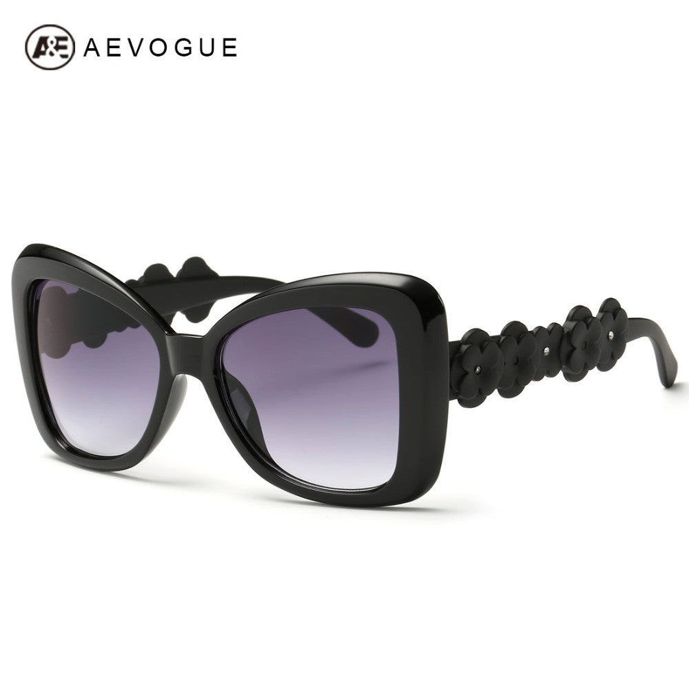 AEVOGUE Sunglasses Women Cool Sun Glasses Summer Style Flower