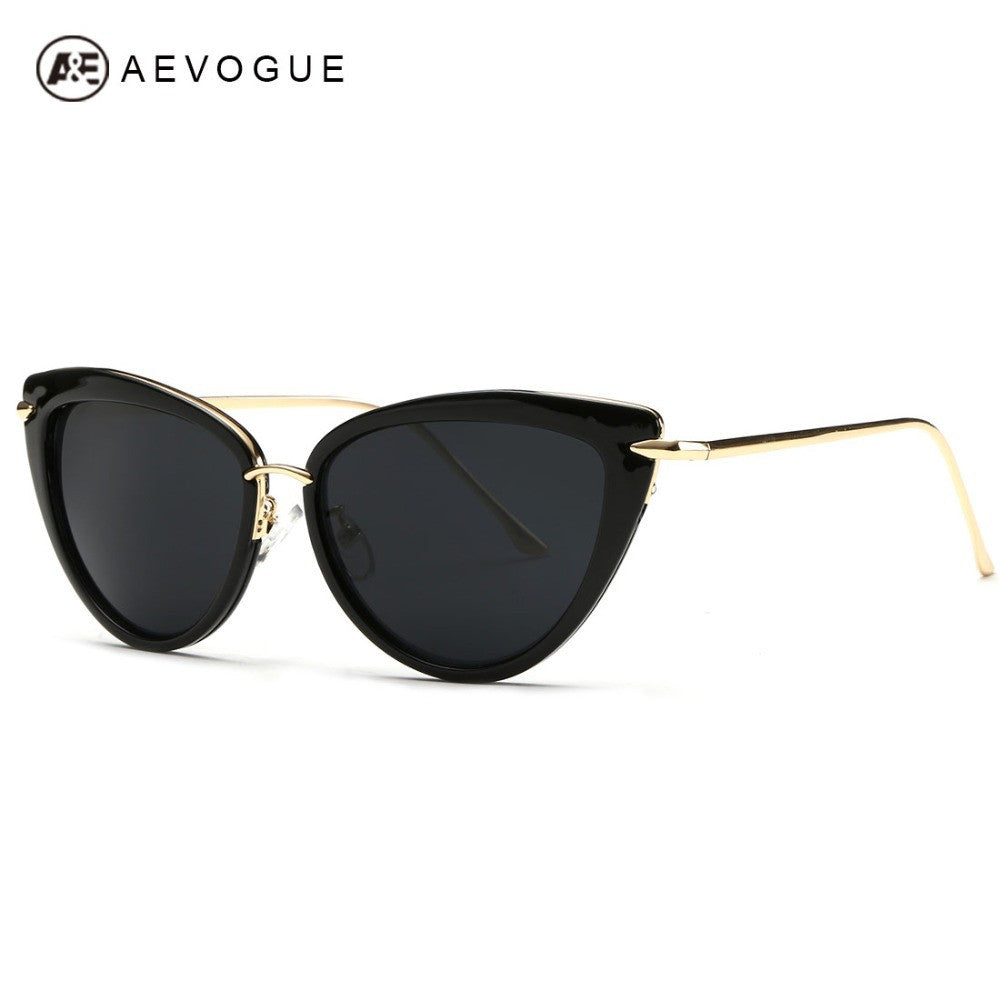 AEVOGUE Newest Alloy Temple Sunglasses Women Top Quality Sun Glasses