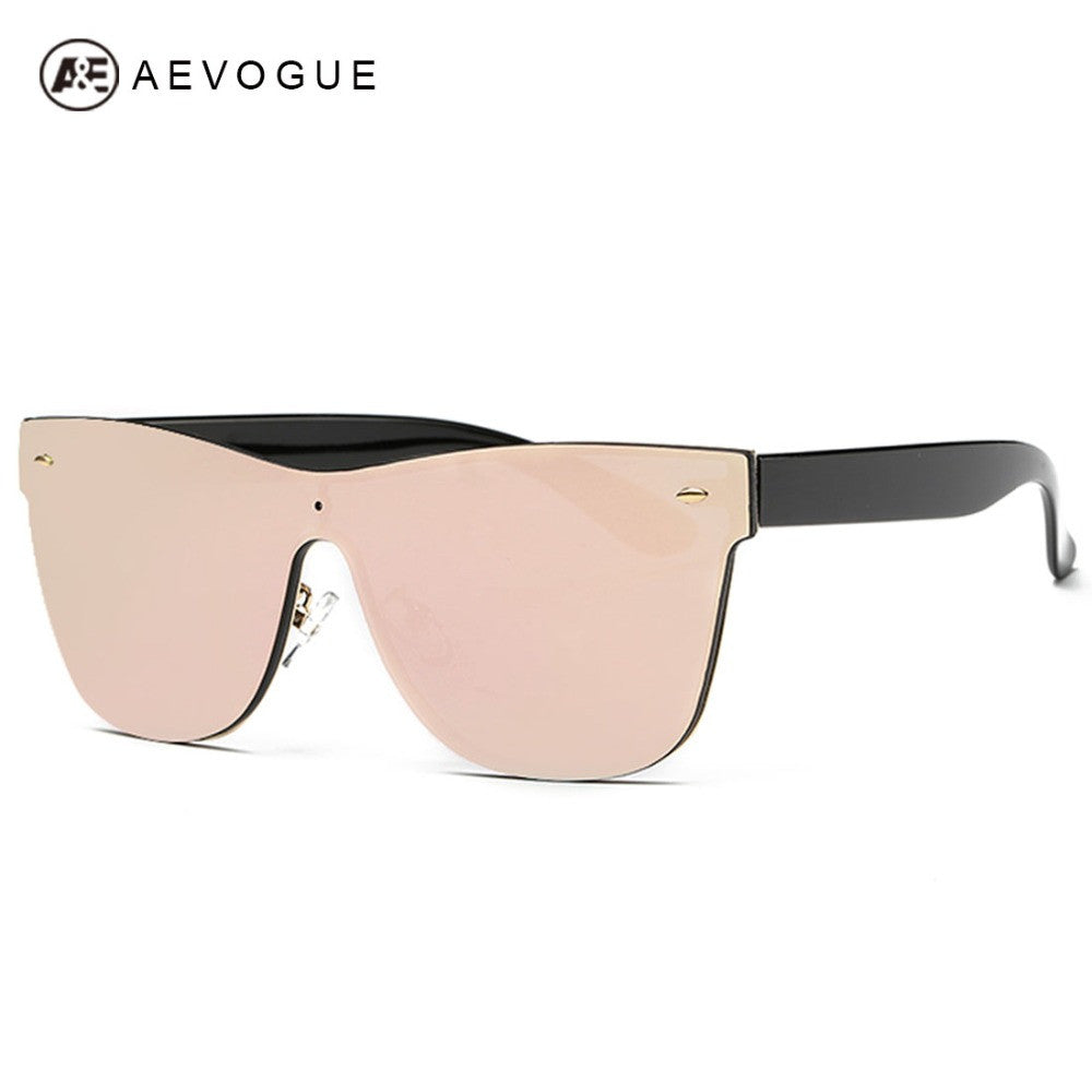 AEVOGUE Women's Sunglasses Conjoined Spectacle Lens Brand Design