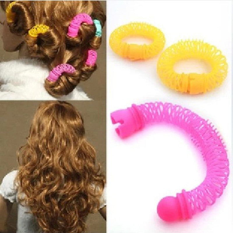 8pcs/pack Hair Curlers Soft Lady Plastic Hair Styling Roller Hairdress