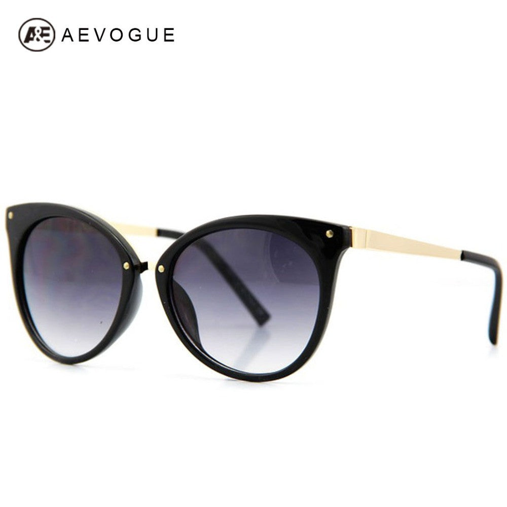 AEVOGUE Cat Eye Brand Design Sunglasses Women Fashion Spectacles