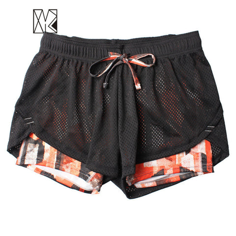 Summer Double Layer Shorts Women Skinny Fitness Shorts Women Elastic Casual Shorts Female Joggings pantalones cortos mujer Ps115