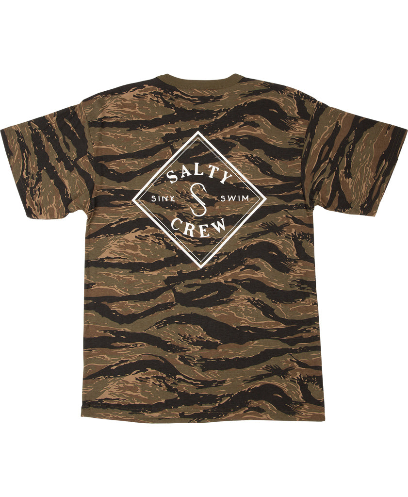 Camo Tippet S/S Tee T Shirts - Salty Crew Australia