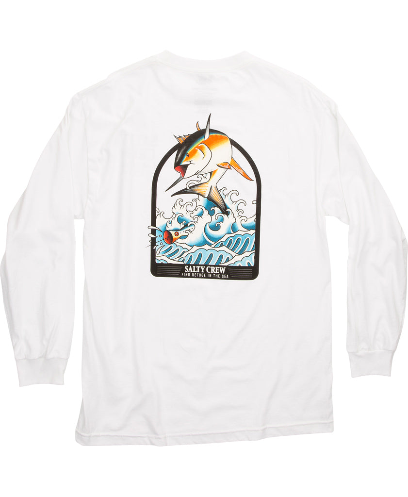 Poppin Off L/S Tee Long Sleeve Tees - Salty Crew Australia