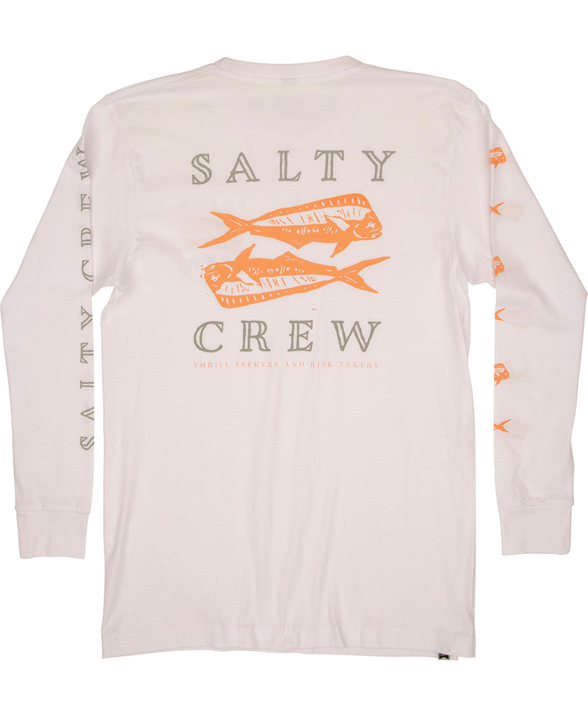 Double Up Premium L/S Tee Long Sleeve Tees - Salty Crew Australia