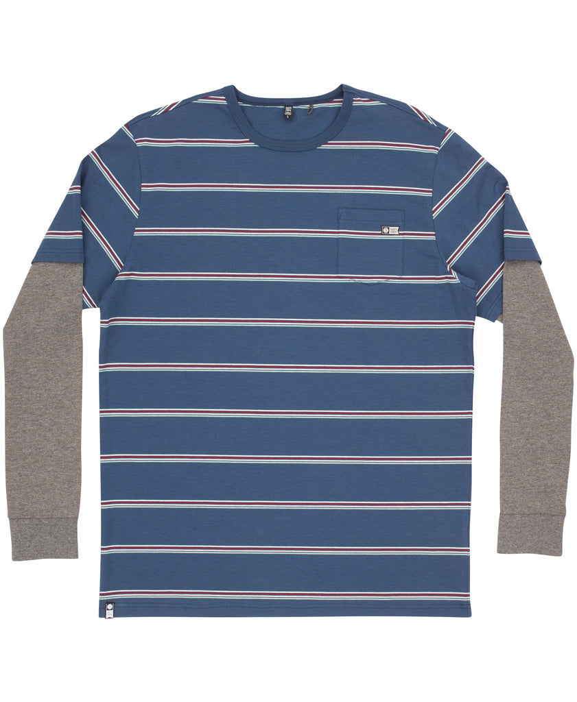 Skipper Twofer L/S Yarndye Long Sleeve Tees - Salty Crew Australia