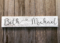 Bespoke Name Sign - Beth & Michael