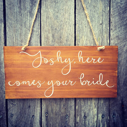 Bride Wedding Sign