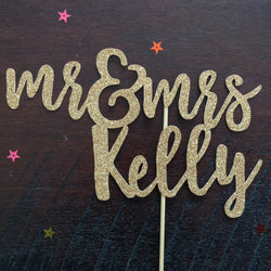 Wedding Cake Topper - Mr & Mrs Kelly