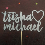 Personalised Trisha loves Micheal Cake Topper