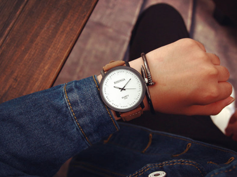 NEW Leather Band Vintage Wristwatch