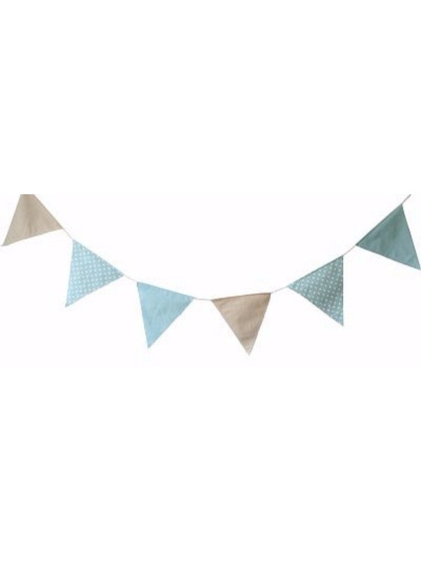 Alimrose Flag Bunting - Blue/Grey