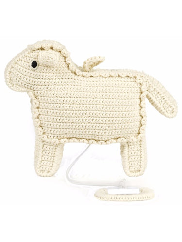 Anne-Claire Petit Organic Cotton Crochet Music Box-Sheep