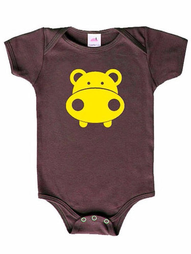 Colette Kids Hippo Onesie - Brown Yellow 3-6 Months