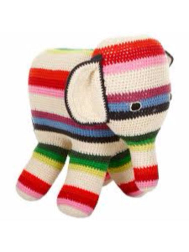 Anne-Claire Petit Organic Cotton Crochet Elephant Mixed Stripe