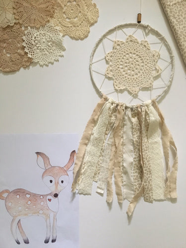 Handcrafted by Brooke Dream Catcher Deer