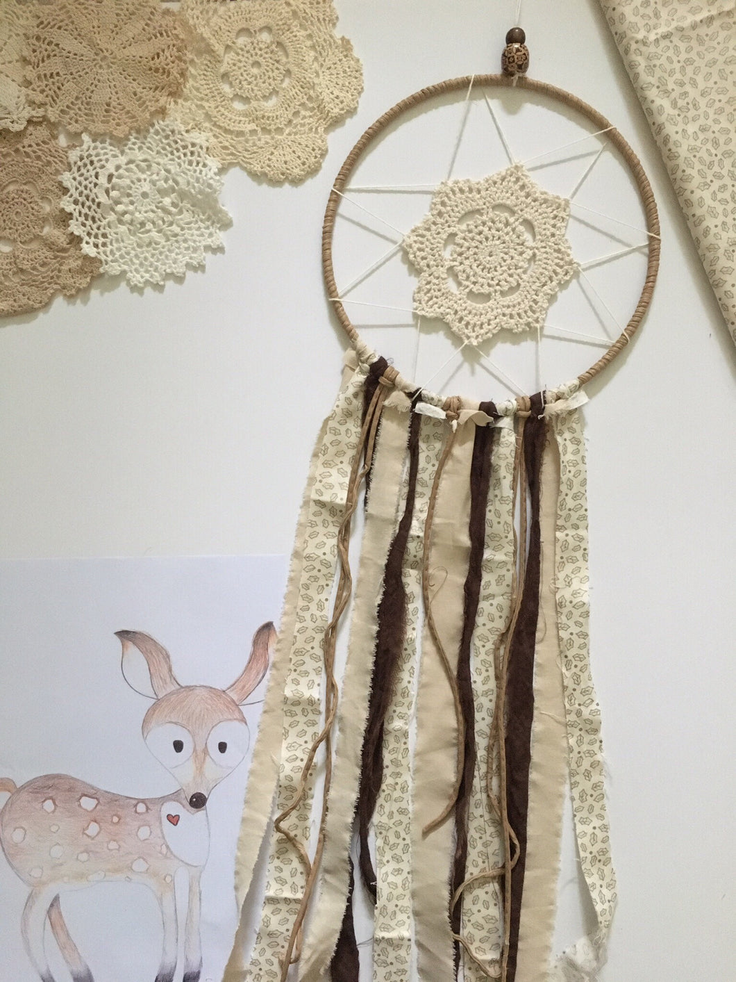 Handcrafted by Brooke Dream Catcher Doe Deer