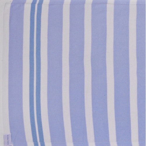 The Stripy Company Sanford Blue Stripe Cotton Blanket