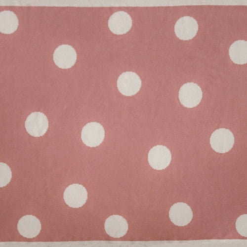 The Stripy Company Raspberry Pink Spotty Reversible Cotton Baby Blanket