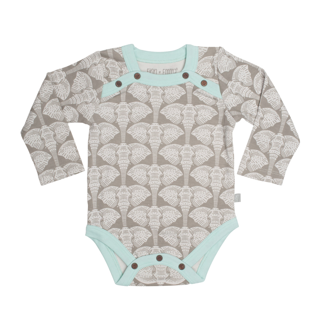 Finn and Emma Elephant Long Bodysuit
