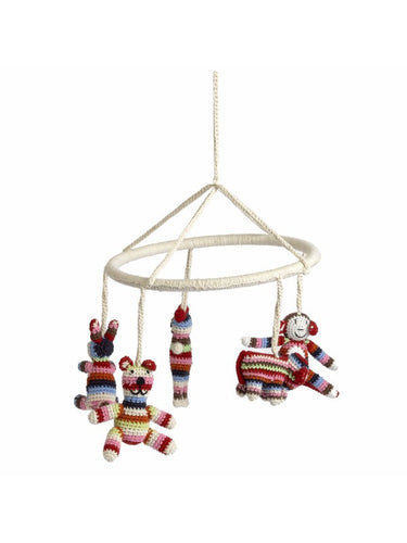 Anne-Claire Petit Organic Cotton Crochet Animal Mobile