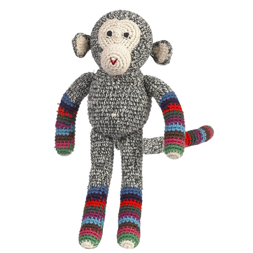 Anne-Claire Petit Organic Cotton Crochet Chimp Stripy