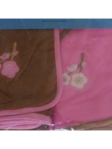iPlay Hooded Towels 2 Pack - Pink/Brown
