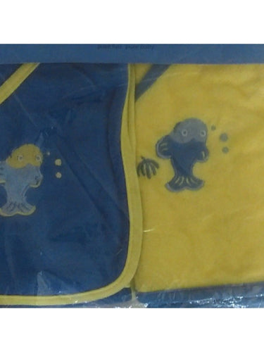 iPlay Hooded Towels 2 Pack - Blue/Yellow