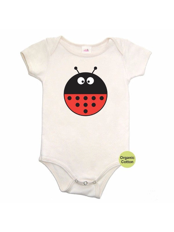 Colette Kids Lady bug Onesie - Cream Red 3-6 Months