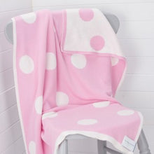 The Stripy Company Pink Spotty Reversible Cotton Baby Blanket
