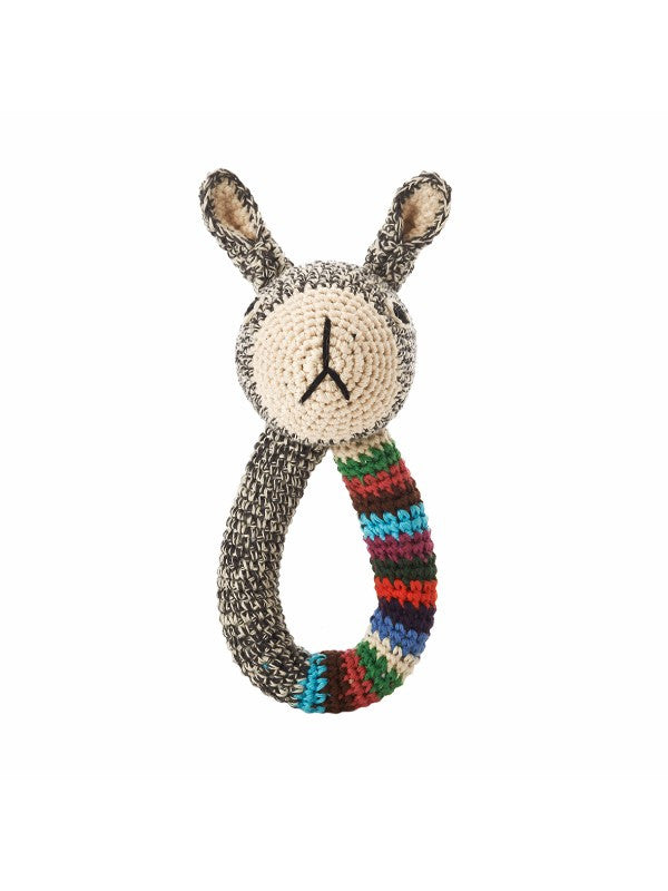 Anne-Claire Petit Organic Cotton Crochet Rabbit Ring with Bell