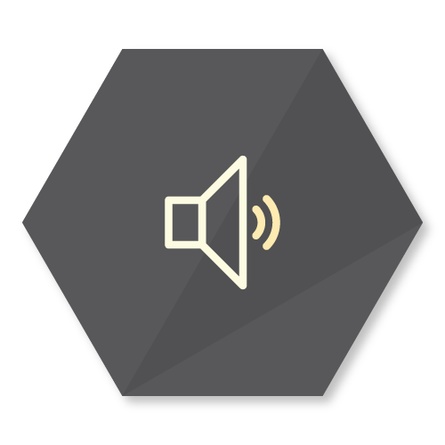 icon representing the audio playback feature of the buzzbox app