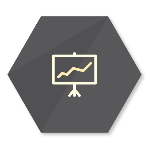 icon representing the charting feature of the buzzbox app