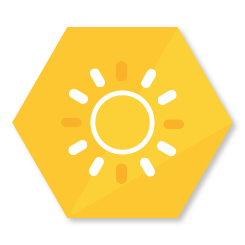 icon representing the solar powered BuzzBox feature