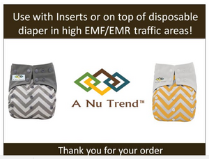 EMR/EMF Cloth Diaper Bundle Pack (5) Gold or Grey - A Nu Trend