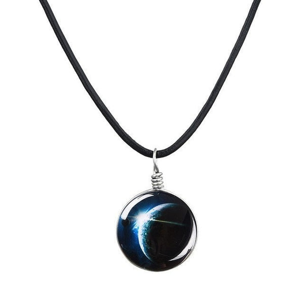 Free Galaxy Glass Necklaces