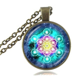 The Art of Sacred Geometry : Metatrons Cube - Pendant and Necklace