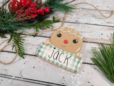 Personalized GINGERBREAD Plaque