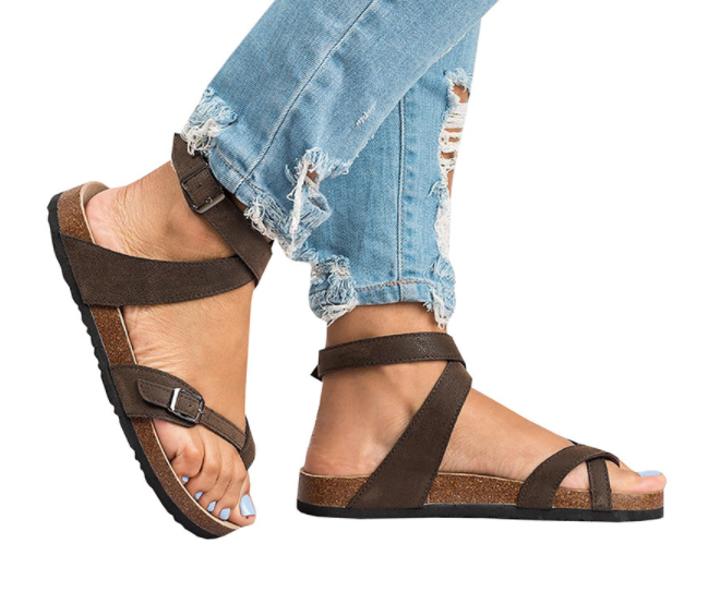 d6030235864 Insole Material  PU Fashion Element  Buckle Closure Type  Buckle Strap Back  Counter Type  Back Strap Sandal Type  Gladiator Outsole Material  Pu