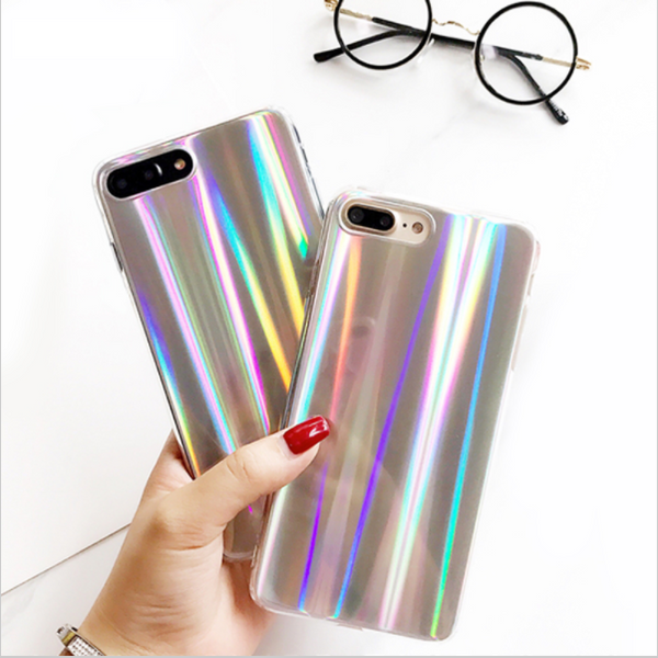 Cool Laser Rainbow Shining Pattern Phone Case For IPhone