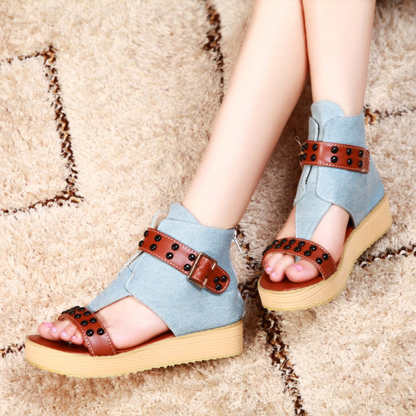 382c468a2da2 Women New Summer Gladiator Rivet Sandals – styleNB
