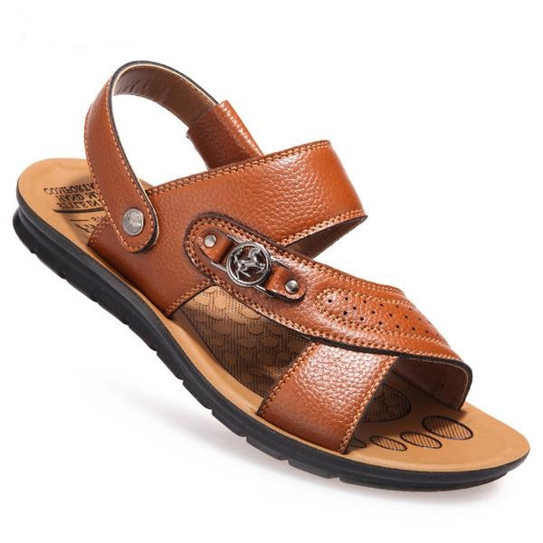 2018 Top Quality Men Genuine Leather Sandals