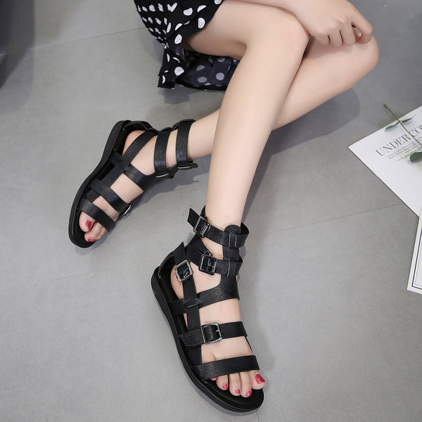 dc45f6fea89a Women s Summer Gladiator Flat Buckle Sandals – styleNB