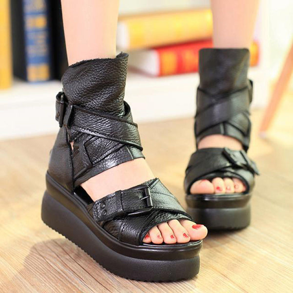 Sandals-Women's 100% Genuine Leather Very Light Platform Sandals(Buy 2, second one 20% off)