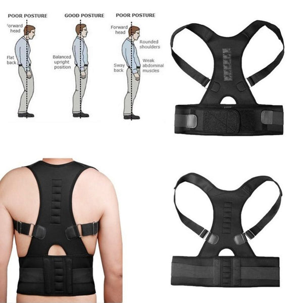 Back & Shoulder Adjustable Magnetic Therapy Posture Corrector