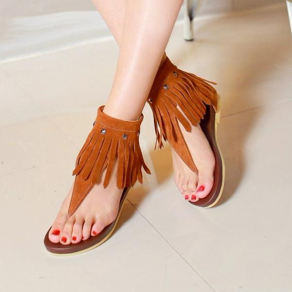 04c5cf02c272 2018 Women Summer Gladiator Tassel Sandals – styleNB