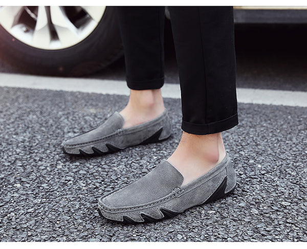 Men Fashion Comfortable Slip on Leather Breathable Loafers Man Shoes