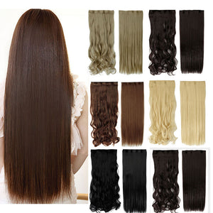 Hair extensions 100 real natural curly long clip in hair hair extensions 100 real natural straight long clip in hair extensions buy 2 pmusecretfo Image collections