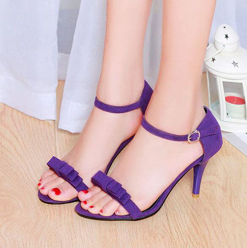 bd8b68985f9 Shoes - Women s 2018 Summer Ankle Strap High Heels Sandals – styleNB